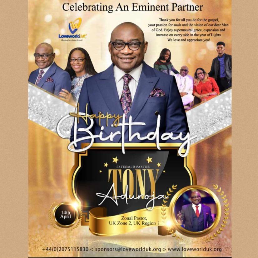 Happy Birthday Pastor Tony Sir!
