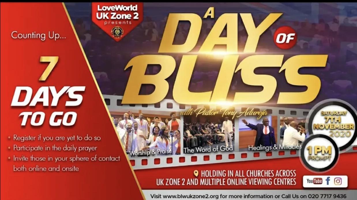 7 DAYS TO GO GLORY