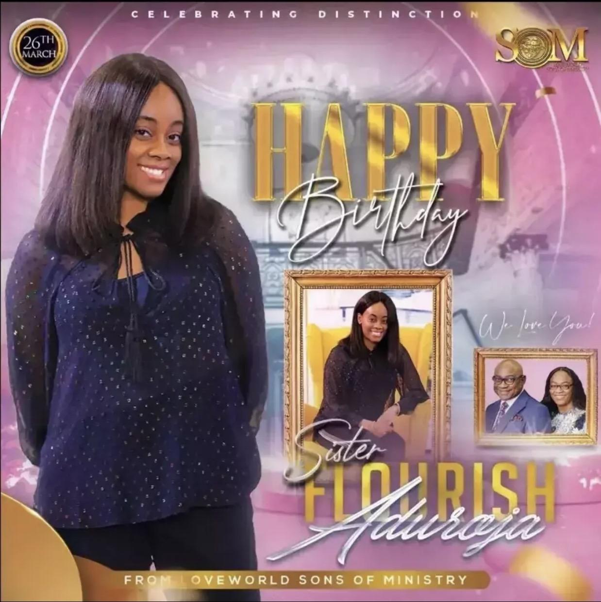 Happy birthday dear sis Flourish