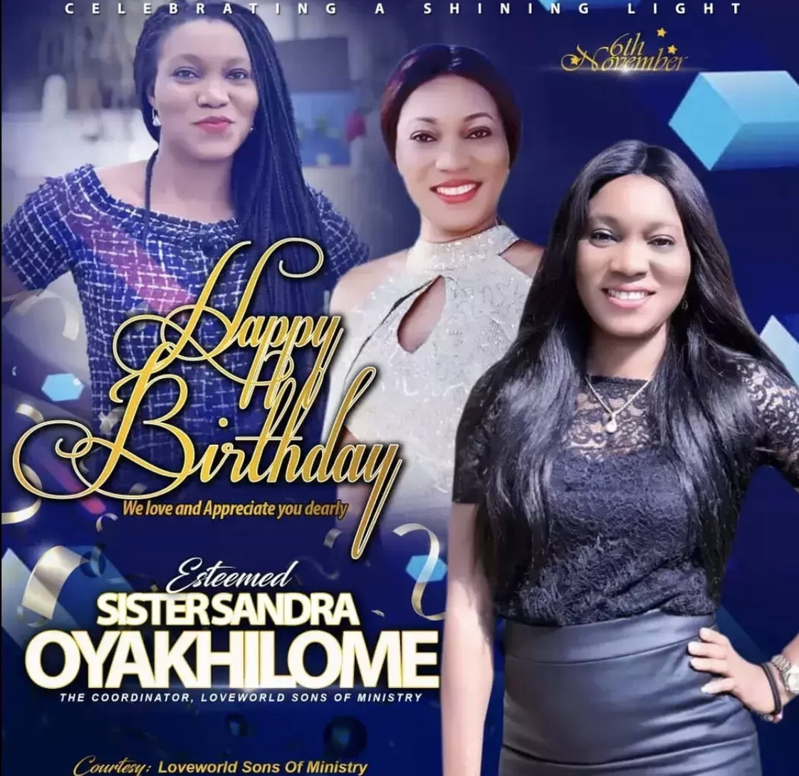 Happy birthday sis Sandra Oyakhilome