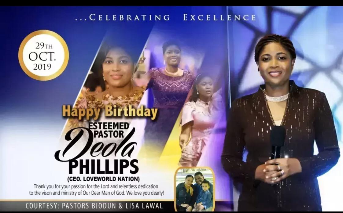 Happy birthday pastor Deola u