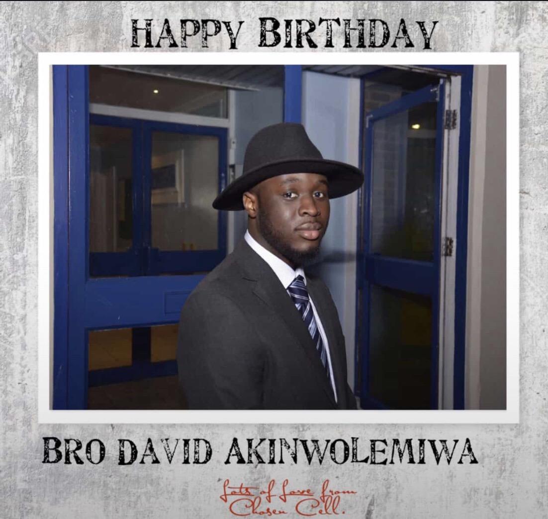 Happy birthday bro David Akinwolemiwa