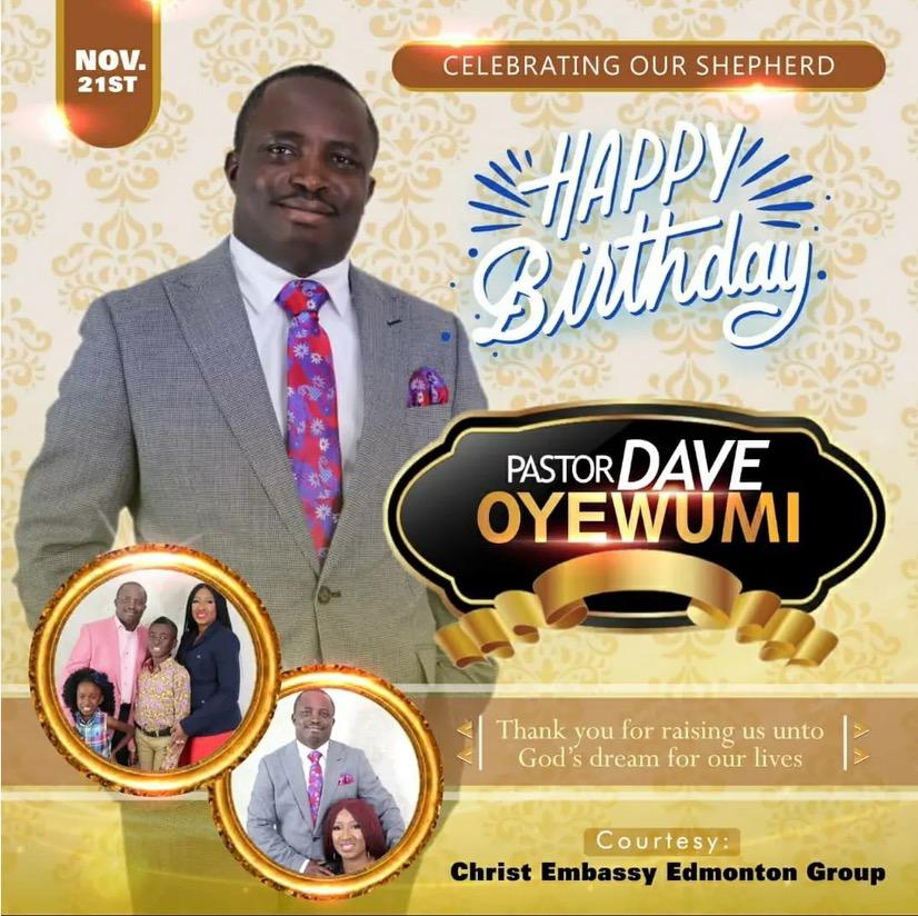 Happy birthday my esteemed pastor
