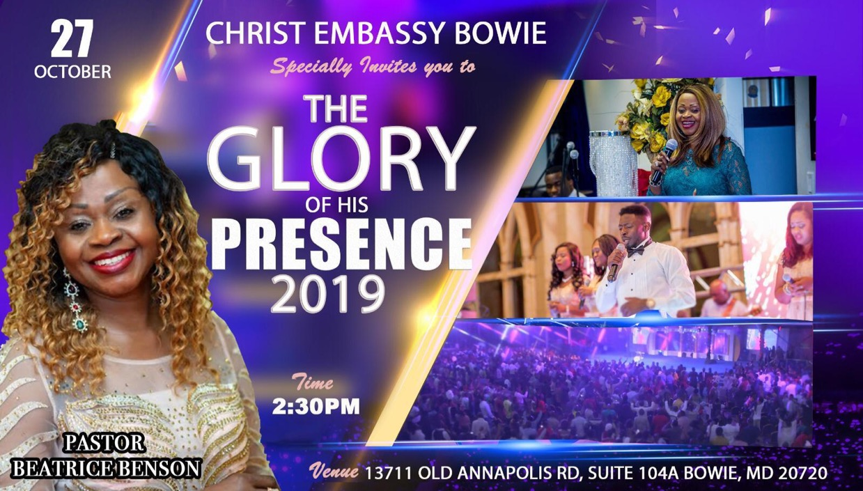 CHRIST EMBASSY BOWIE, MARYLAND USA.