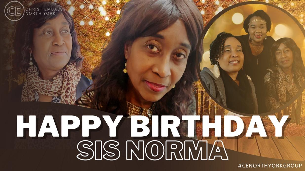 Happy Birthday Dearest Sis Norma!