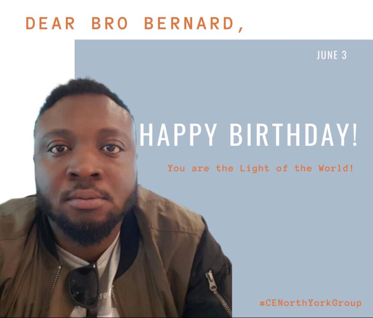 Happy birthday Bro Bernard! This
