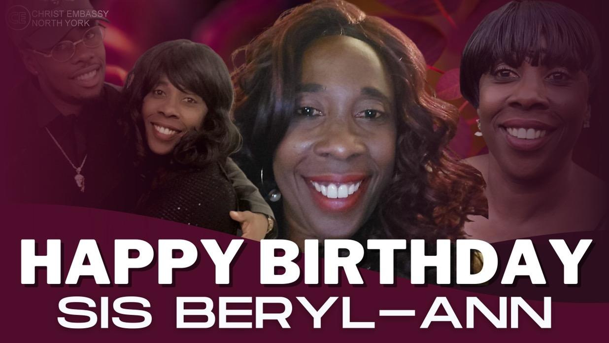 Happy Birthday Dearest Sis Beryl-Ann.