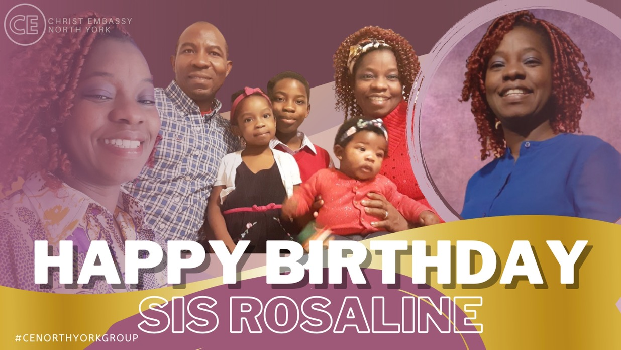 Happy Birthday Dearest Sis Rosaline.