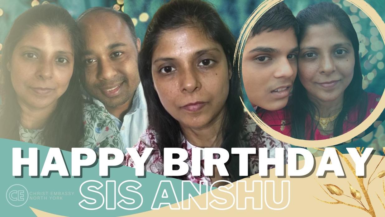Happy Birthday Dearest Sis Anshu!🦚