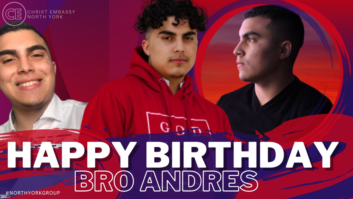 Happy Birthday Dearest Bro Andres!