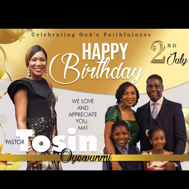 Happy birthday Pastor Tosin. May