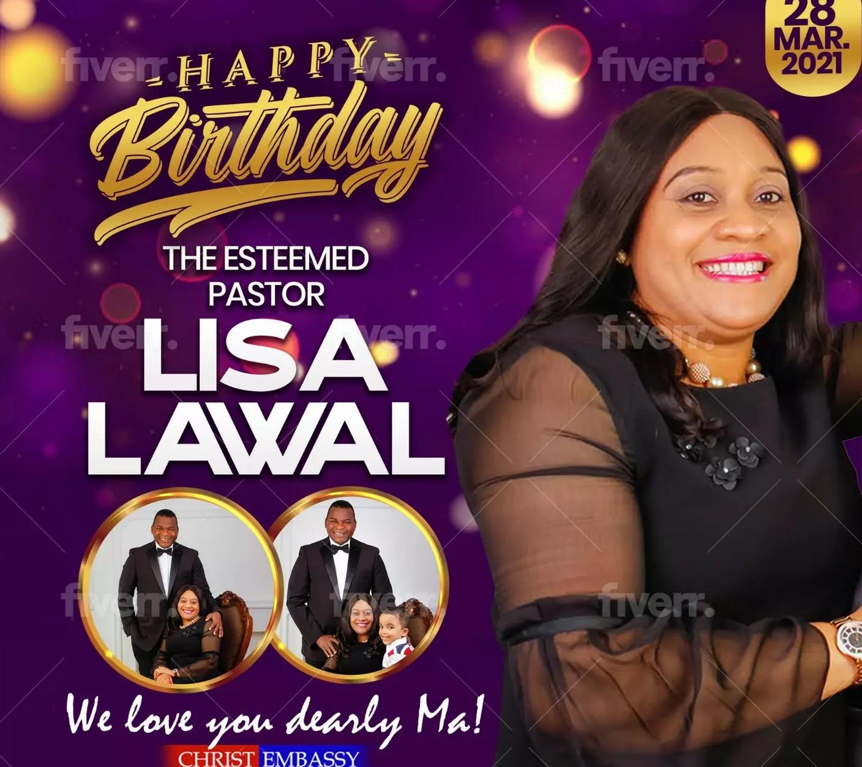Happy Birthday Pastor Lisa. We