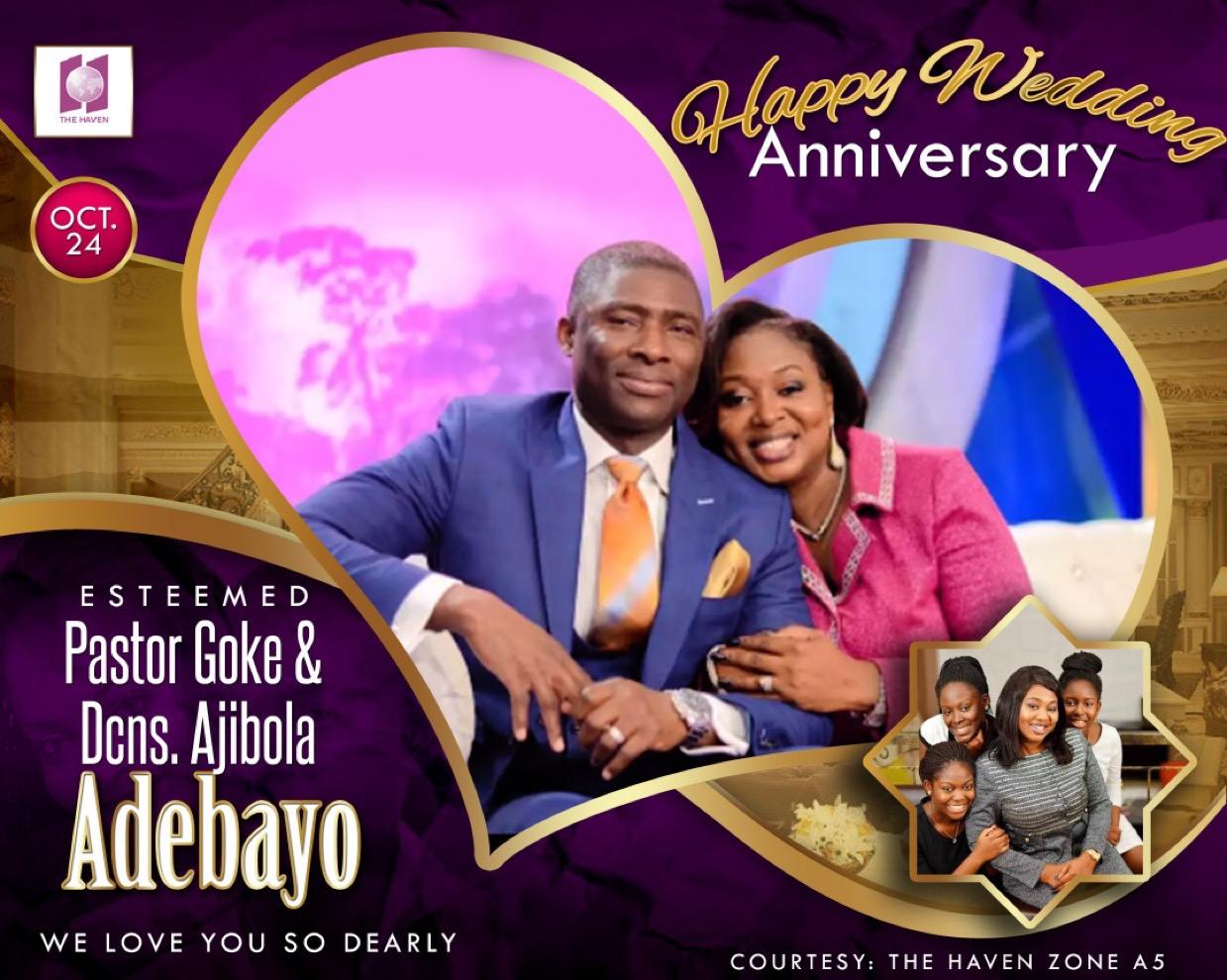 Happy wedding anniversary pastor Goke