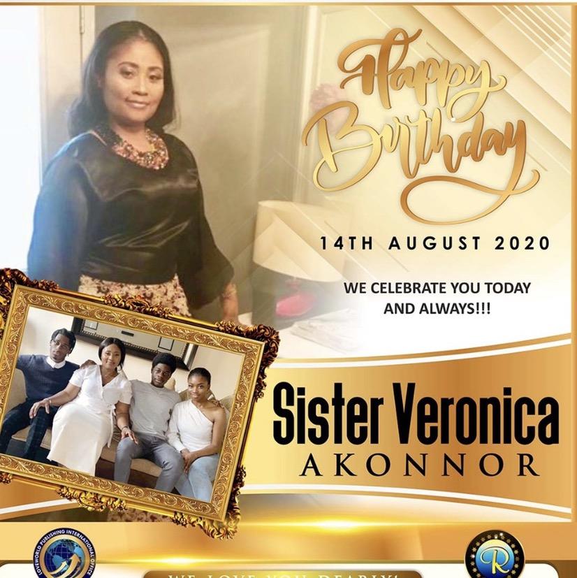 Happy birthday Esteemed Sis Veronica🥳🎉Thank
