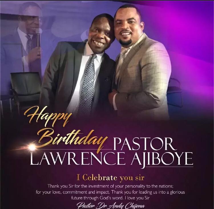 Happy birthday Pastor Lawrence,