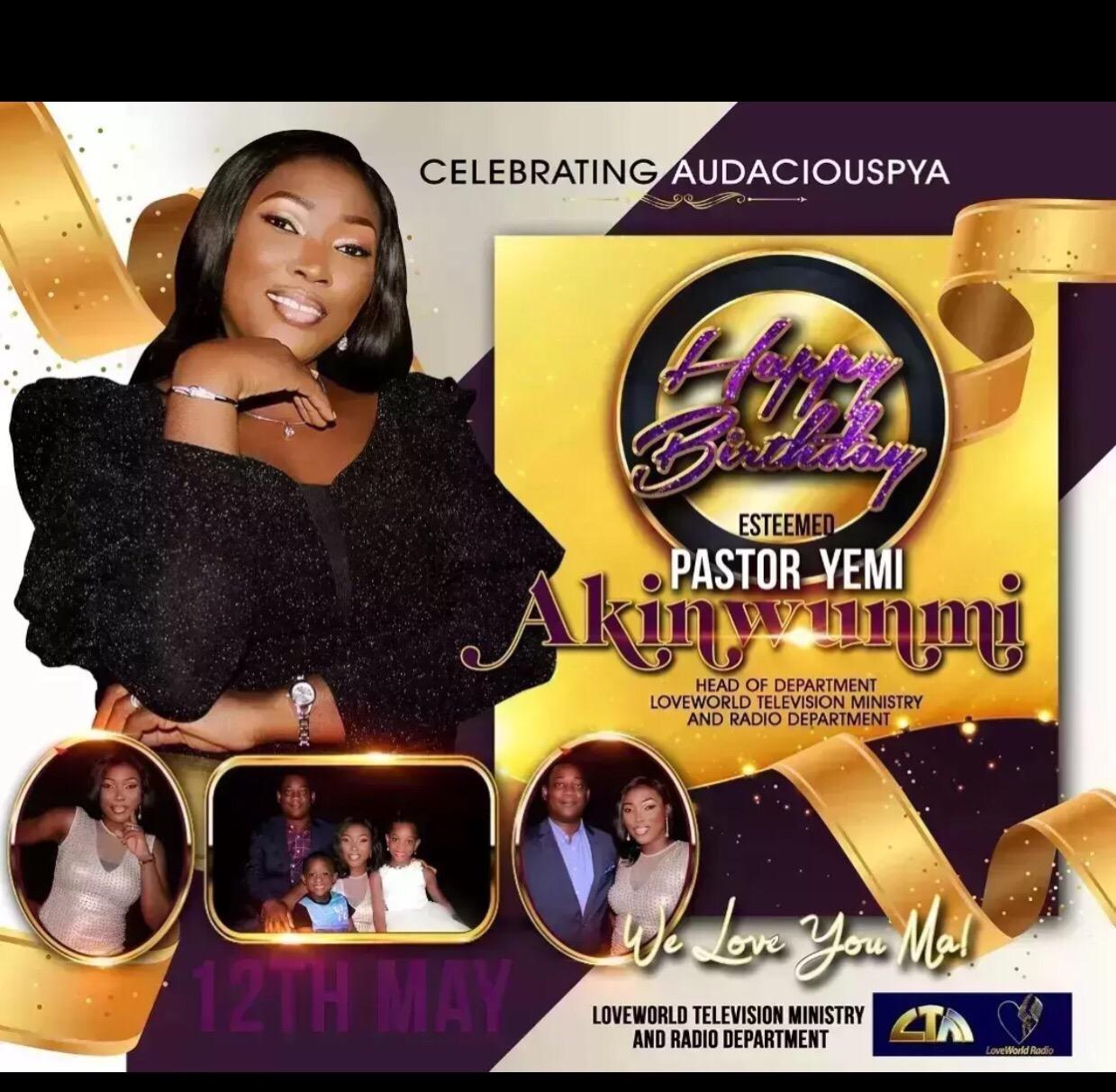 Still celebrating Pastor Yemi, a