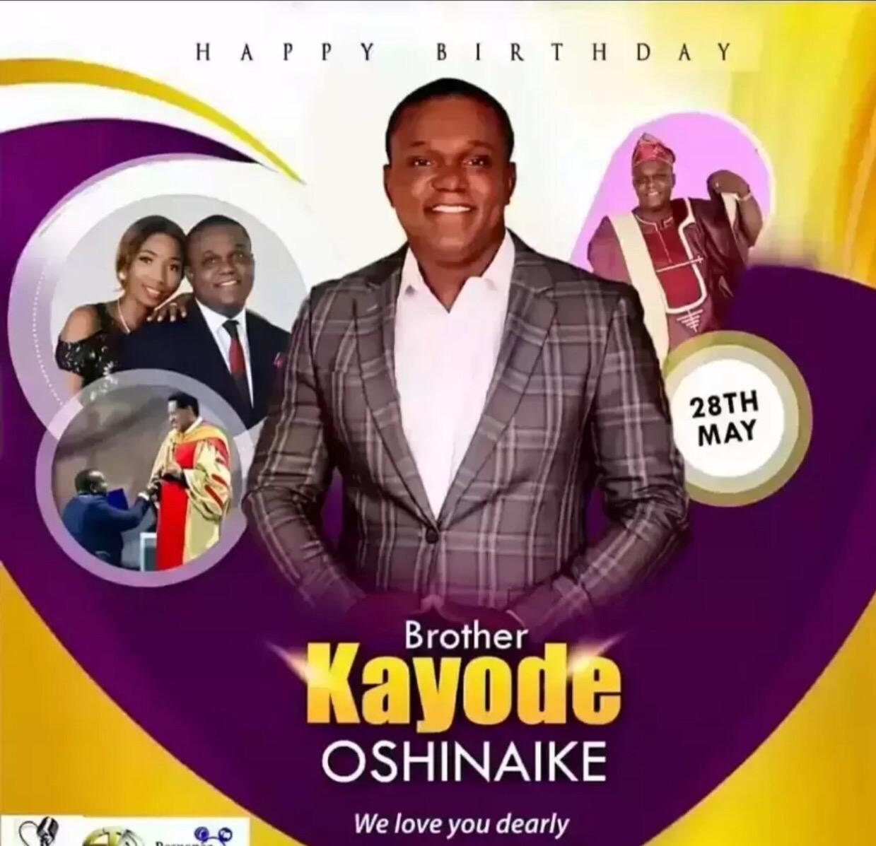 Happy birthday brother kayode, thank