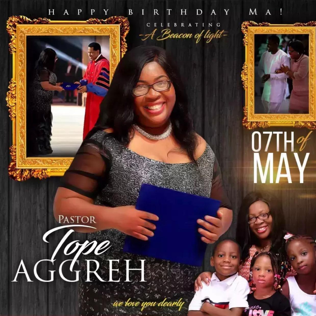 Definitely still celebrating Pastor Tope,