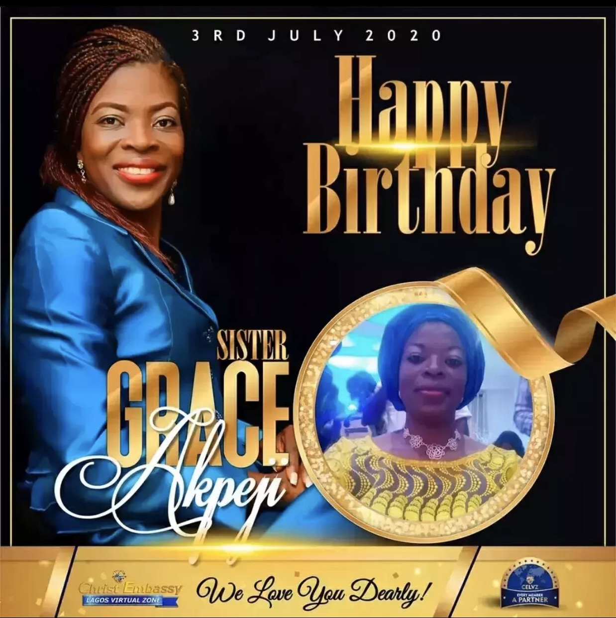 Still celebrating Sister Grace, you