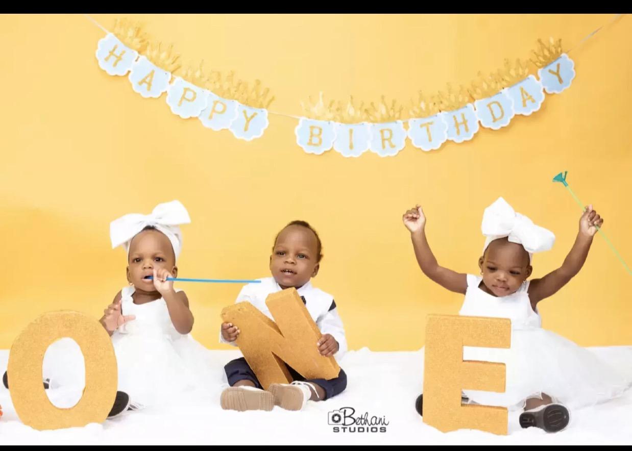 Celebrating the cuties Jody,Jeffrey and