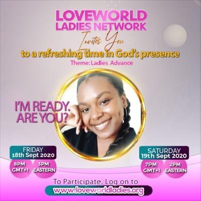 #loveworldladiesnetwork #ladiesadvance #ukzn2