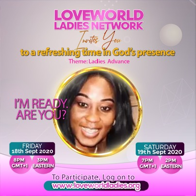 Ready!!!! #loveworldladiesnetwork #ladiesadvance #