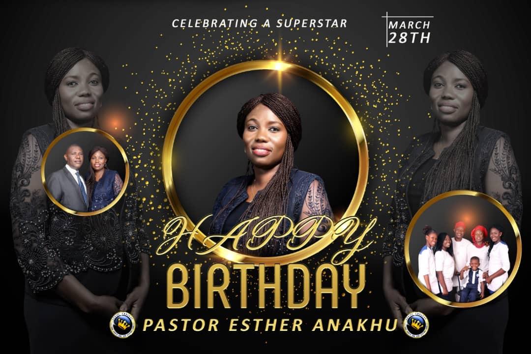 Happy birthday esteemed pastor Esther
