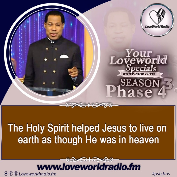 The Holy Spirit helped Jesus
