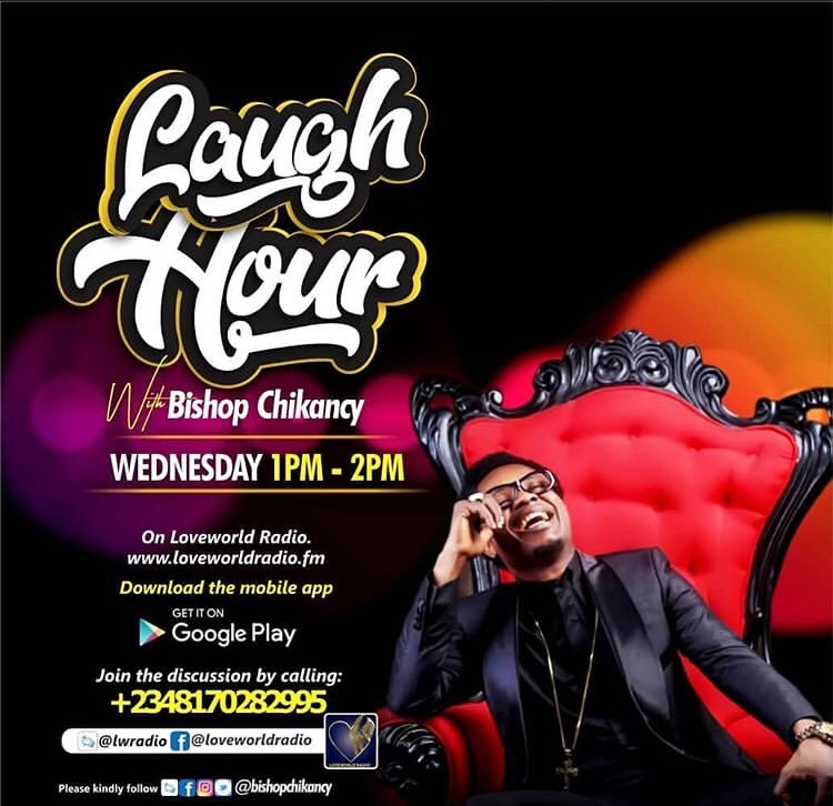 #HappeningNow @LoveWorldRadio Laugh Hour with