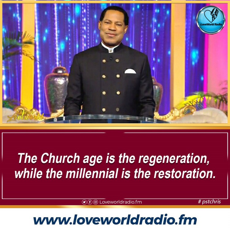 💎 The Church age is