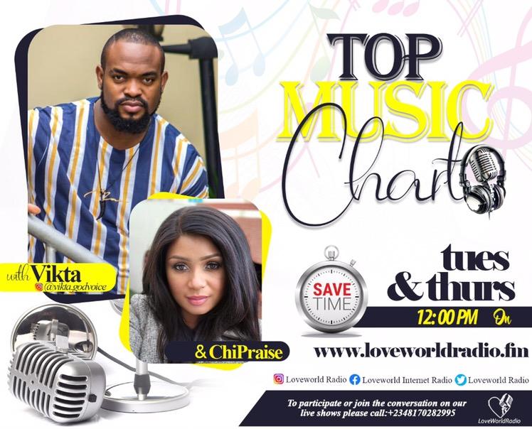 #UpNext @LoveWorldRadio #MusicTop Chart Show
