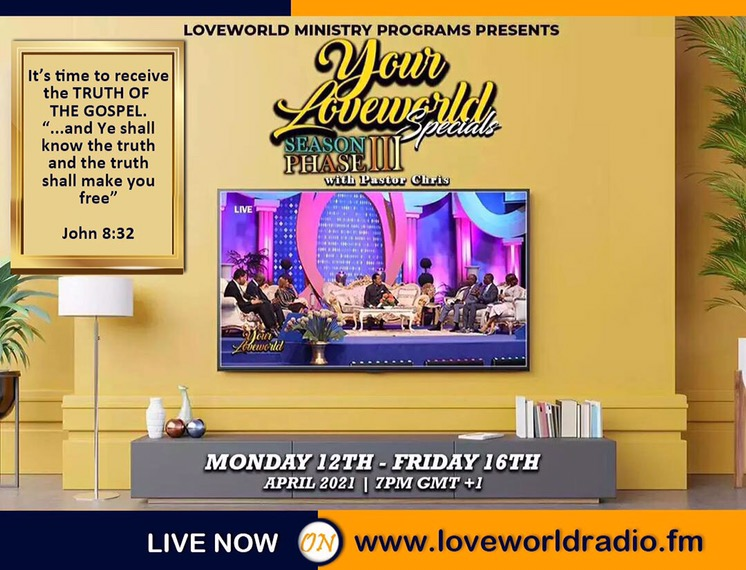 We Are Live On YourLoveWorld