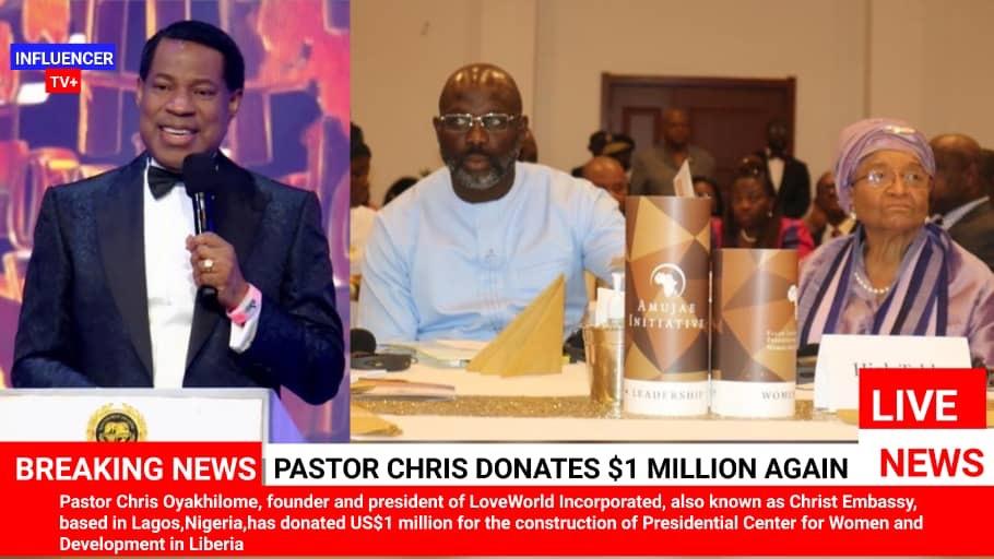 PASTOR CHRIS DONATES $1 MILLION