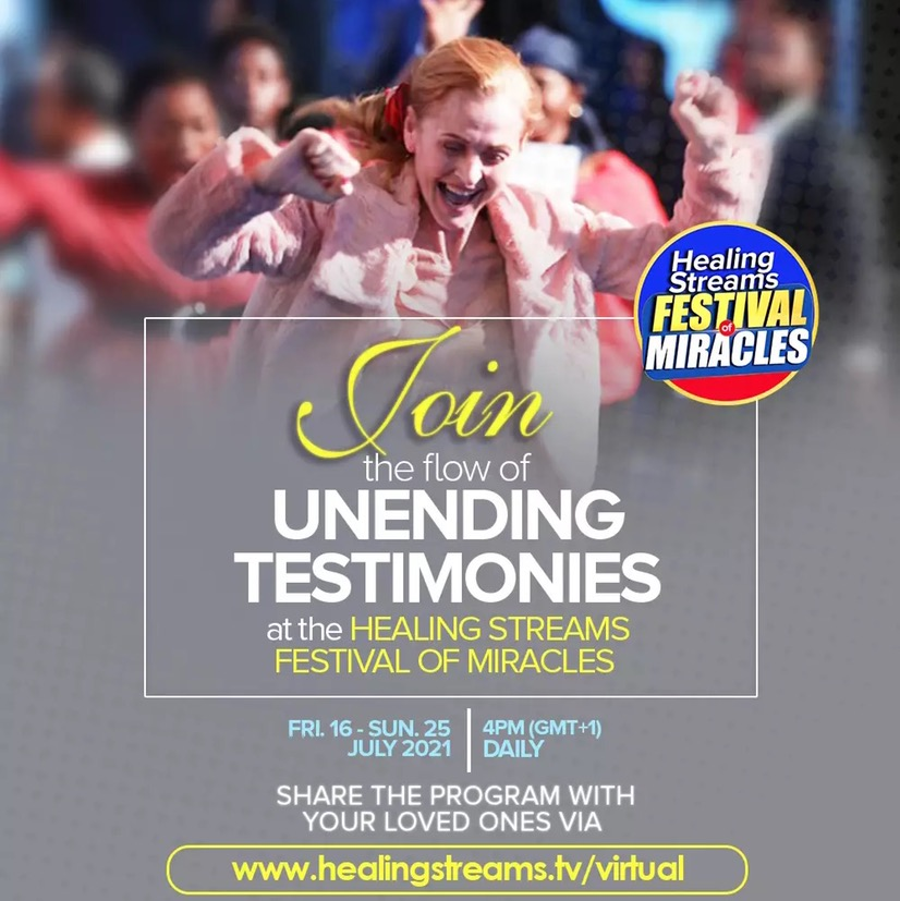 HEALING STREAMS FESTIVAL OF MIRACLES🌍