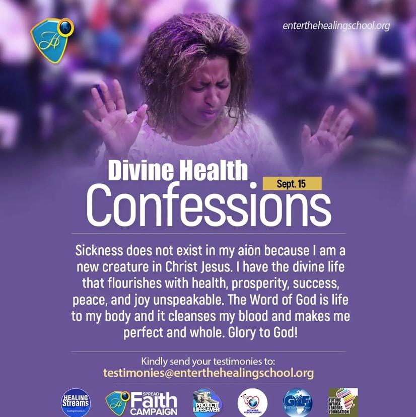 DIVINE HEALTH CONFESSIONS SEPTEMBER 15