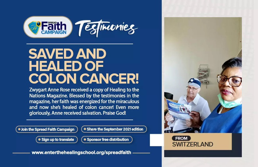 SAVED AND HEALED OF COLON