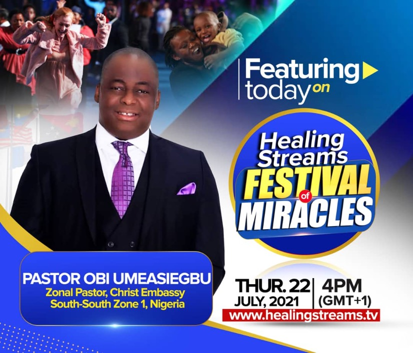 HEALING STREAMS FESTIVAL OF MIRACLES💯