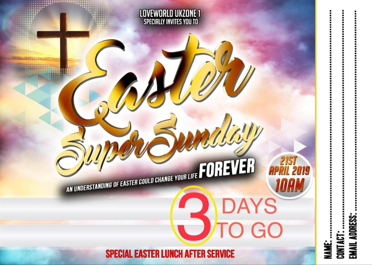 #LWNWL #EasterSuperSundayUKZone1