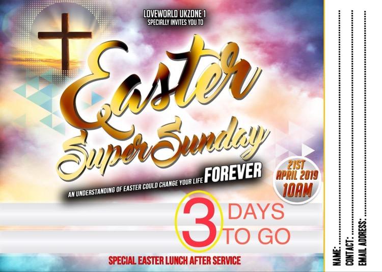 #LWNWL #Eastersundayukzone1