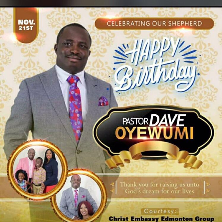 Happy birthday most esteemed Pastor