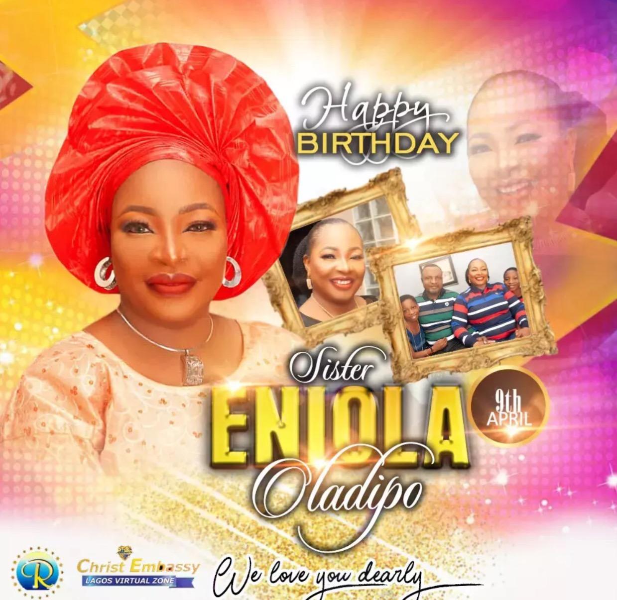 Happy birthday dearest Sister Eniola
