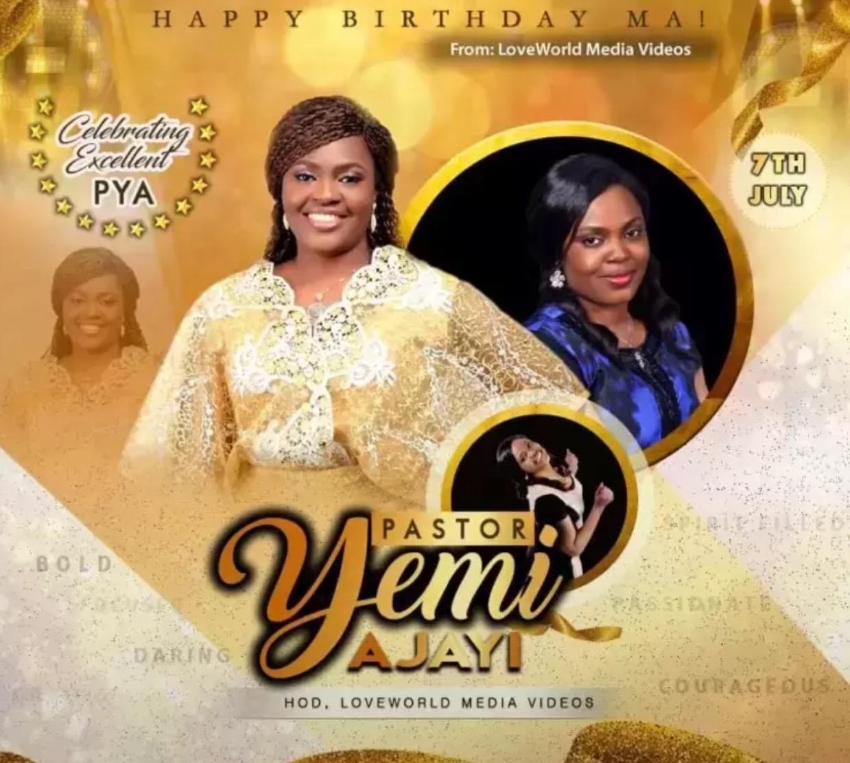 Happy birthday Pastor Yemi, congratulations
