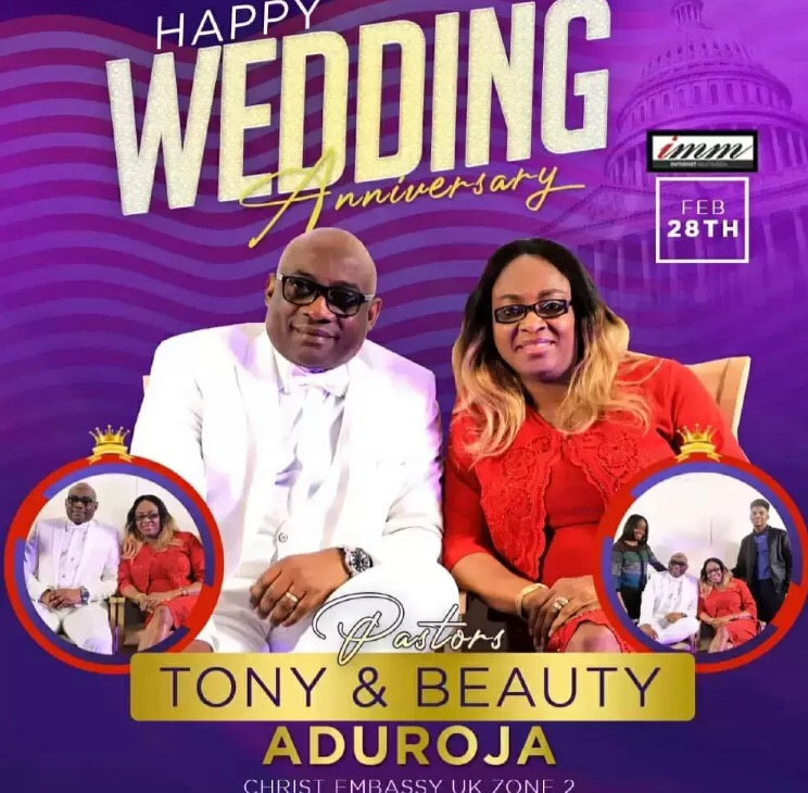 Happy wedding anniversary to our