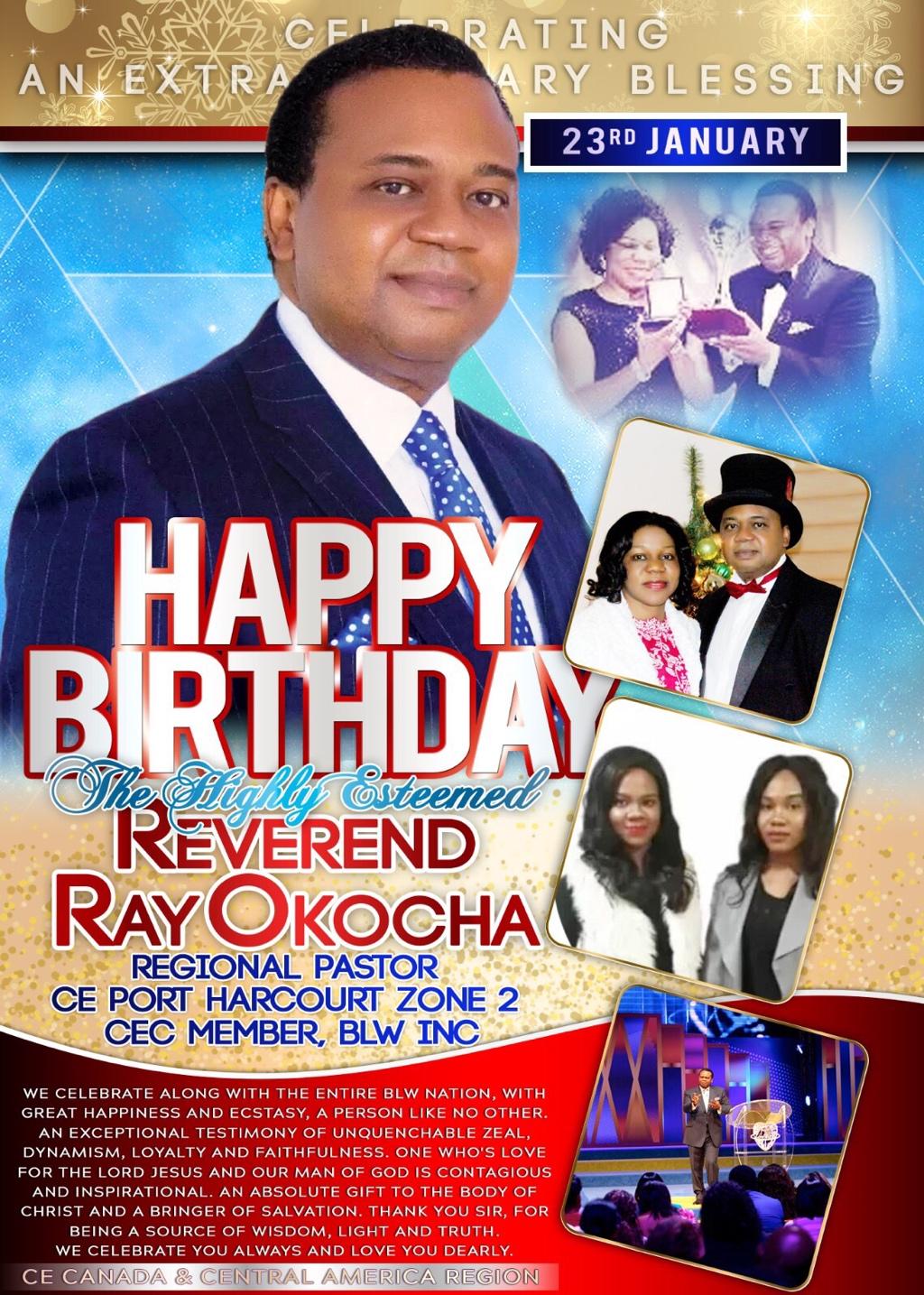 Happy Birthday Reverend Sir, thank