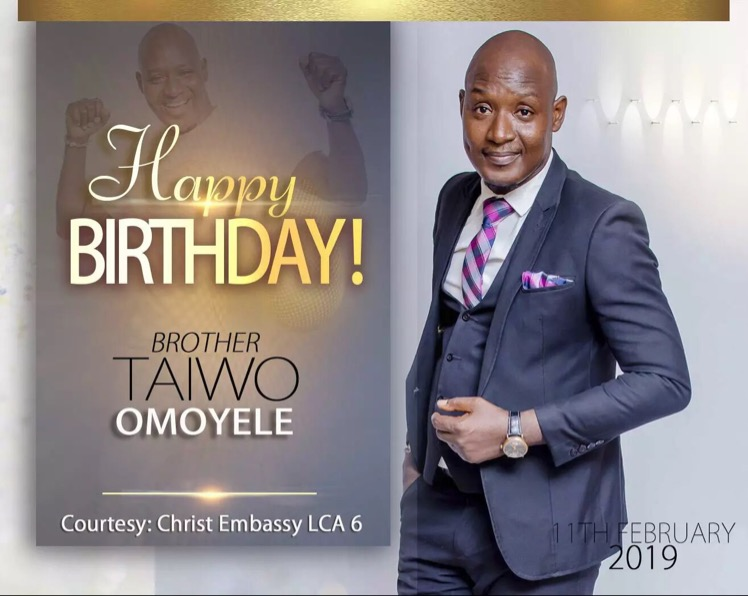 Happy Birthday dearest Bro Taiwo,