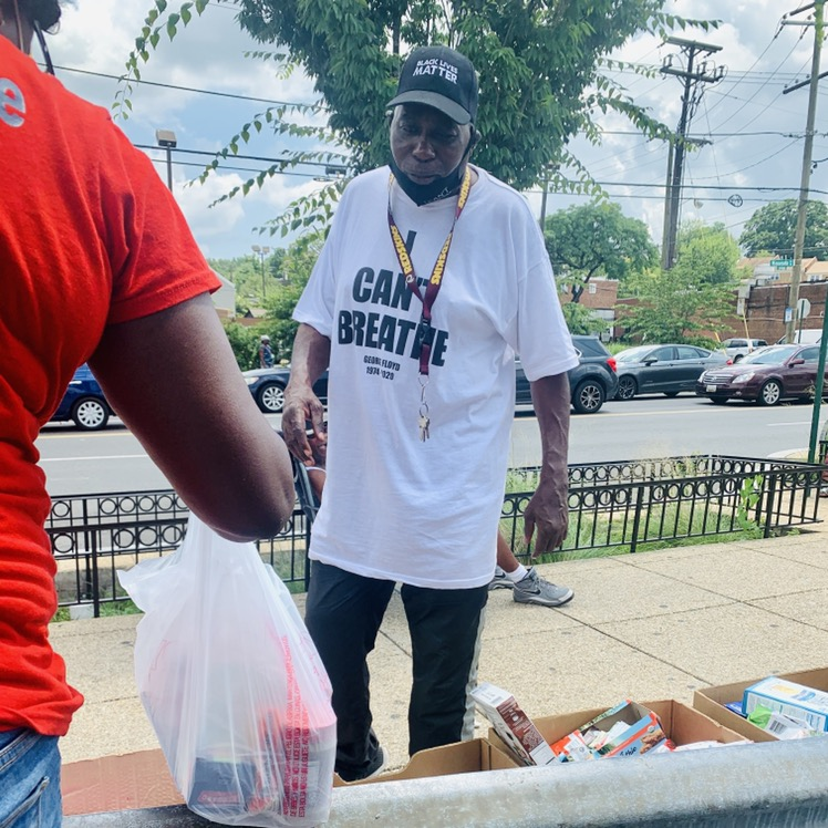 Evangelism and Food Distribution at