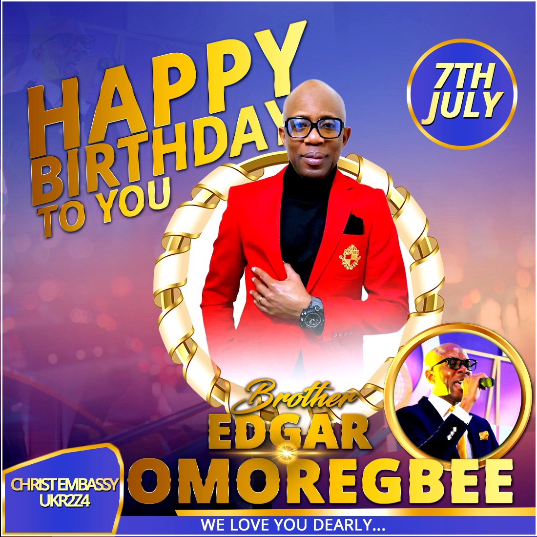Happy Birthday Esteemed Brother Edgar!