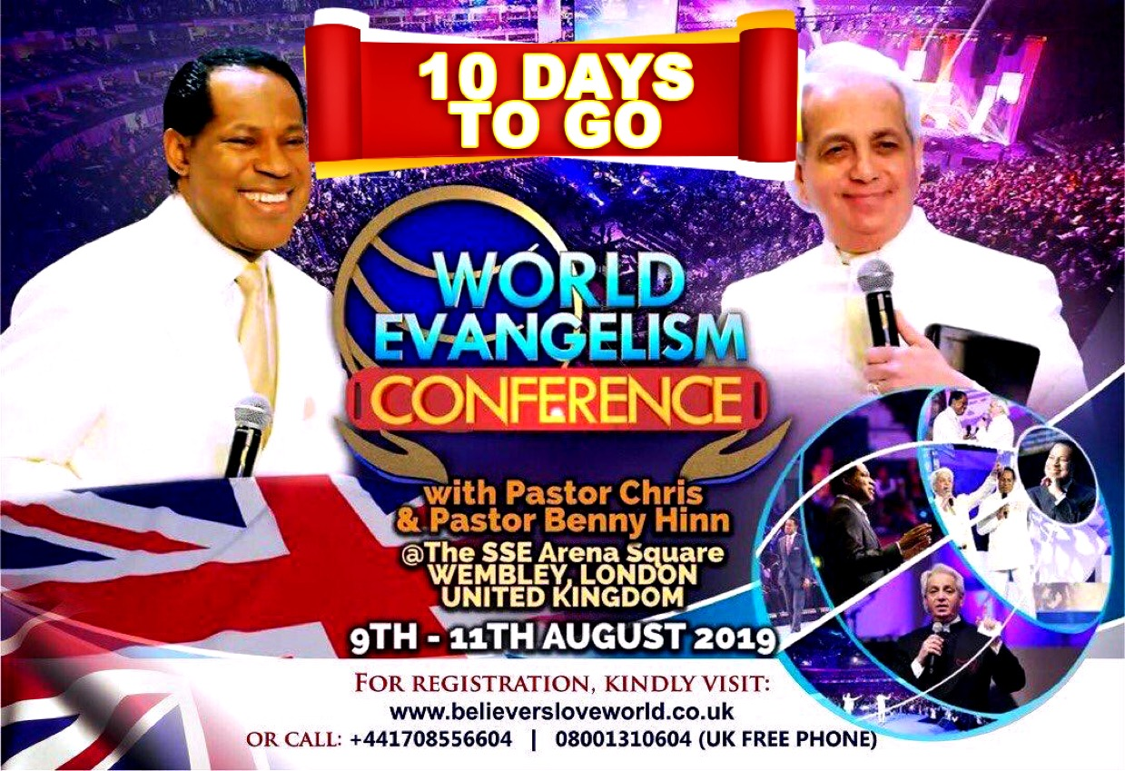 It's 10 Days to #WECUKwithPastorChris