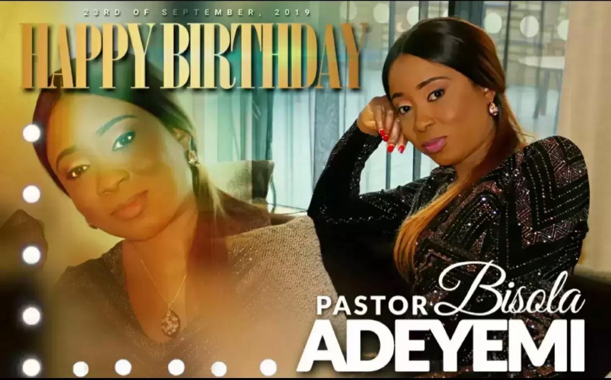 Happy birthday Pastor Bisola. Thank