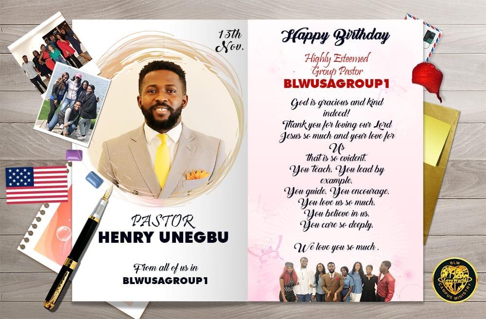 Happy Birthday Pastor Henry! Divine